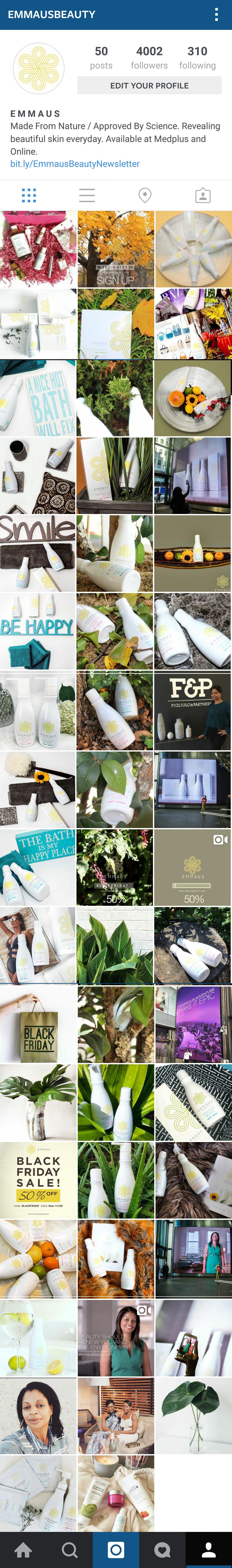 1 Emmaus Beauty Instagram Example Screen Shot